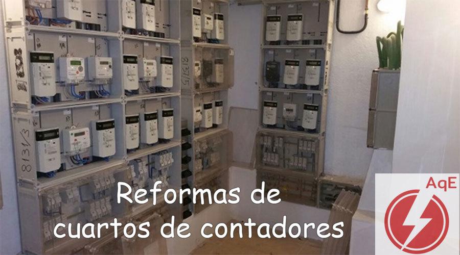 Reforma de cuartos contadores electricos en Moncada