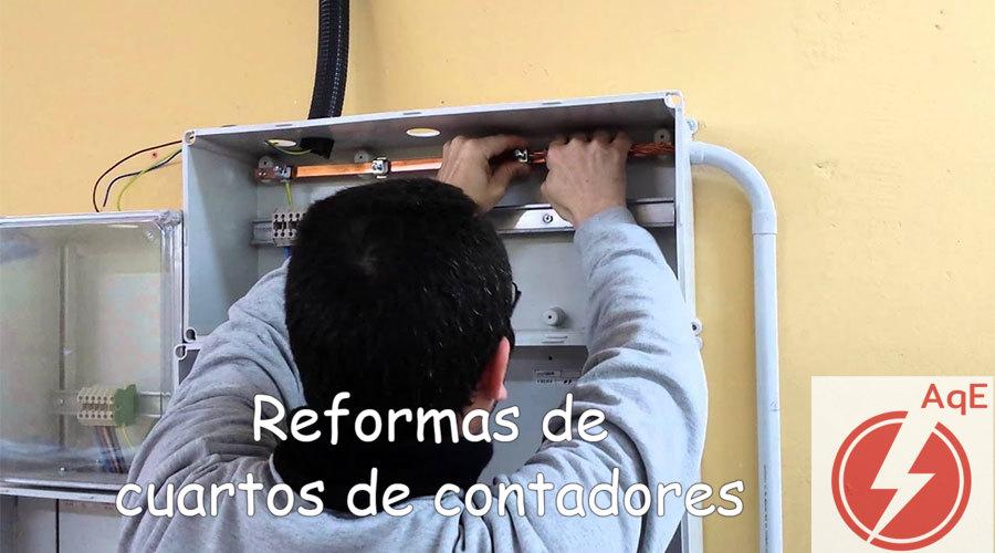 Reforma de cuartos contadores electricos en Benetusser