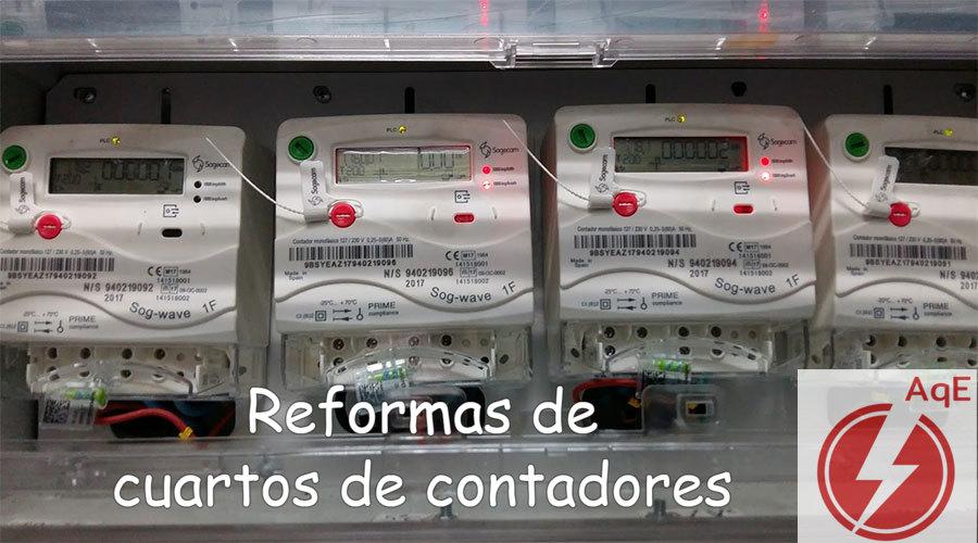 Reforma de cuartos contadores electricos en Eliana